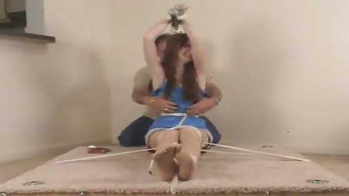 Samantha tied up and tickled