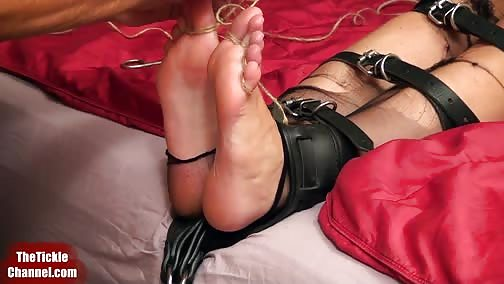 TheTickleChannel - Nipples Stretched By Foot Tickling